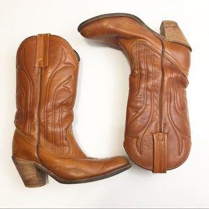 Vintage Frye Western Brown Boots